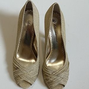 Lulu Townsend shoes- size 10 gold